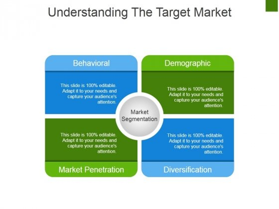 Understanding The Target Market Ppt PowerPoint Presentation Pictures Graphics Example