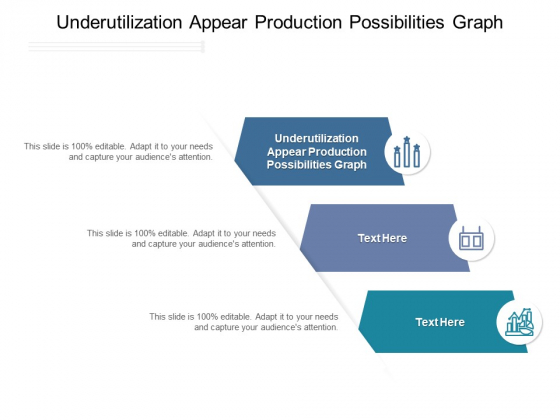 Underutilization Appear Production Possibilities Graph Ppt PowerPoint Presentation Icon Display Cpb Pdf