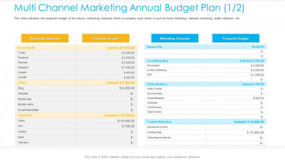 Unified_Business_Consumer_Marketing_Strategy_Multi_Channel_Marketing_Annual_Budget_Plan_Budget_Background_PDF_Slide_1