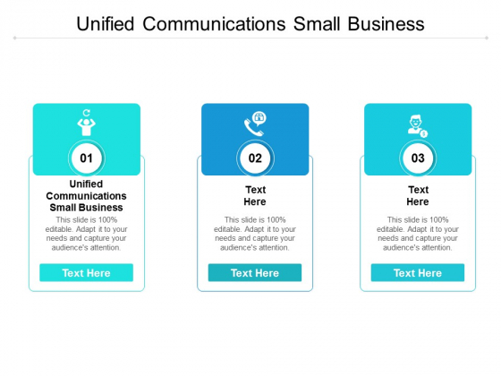 Unified Communications Small Business Ppt PowerPoint Presentation File Vector Cpb
