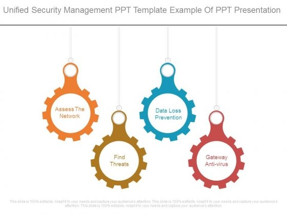 Unified Security Management Ppt Template Example Of Ppt Presentation