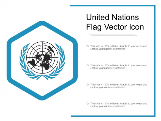 United Nations Flag Vector Icon Ppt PowerPoint Presentation Layouts Master Slide