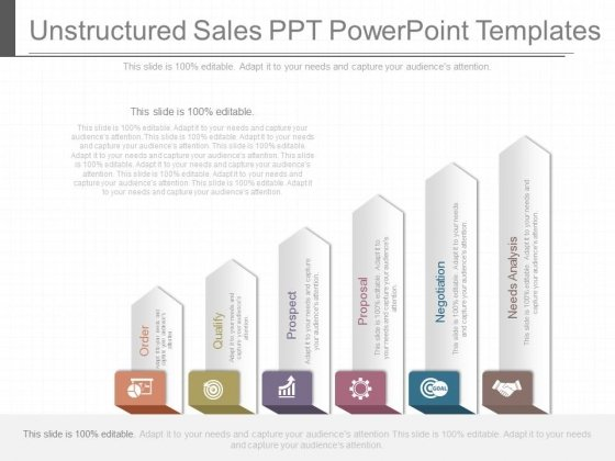 Unstructured Sales Ppt Powerpoint Templates