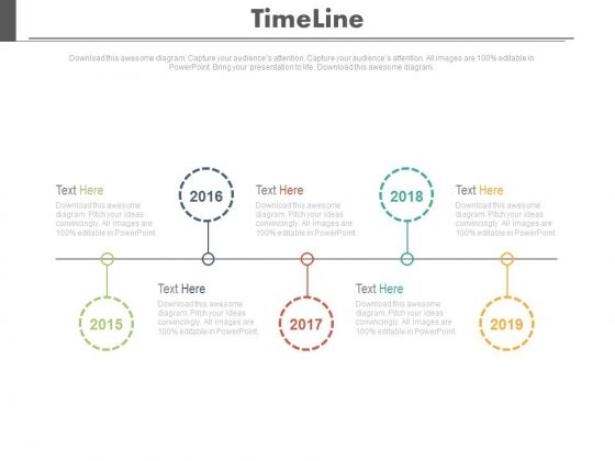 Up Down Timeline Diagram For Business Powerpoint Slides