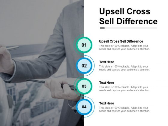Upsell Cross Sell Difference Ppt PowerPoint Presentation Styles Ideas Cpb