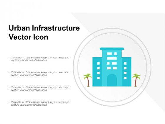 Urban Infrastructure Vector Icon Ppt Powerpoint Presentation Pictures Rules