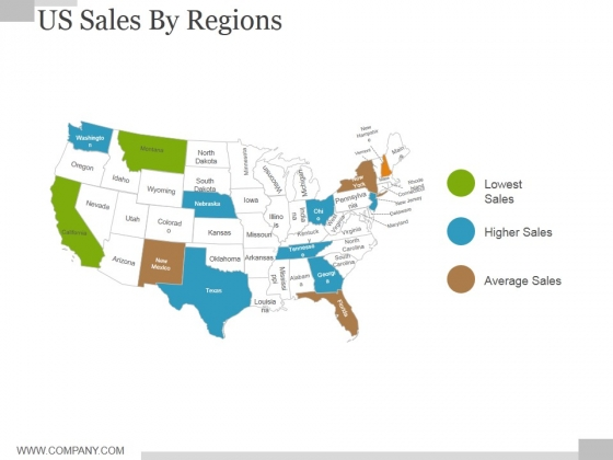 Us Sales By Regions Ppt PowerPoint Presentation Infographics ...