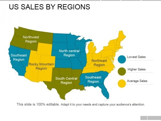 Us Sales By Regions Ppt PowerPoint Presentation Model Styles
