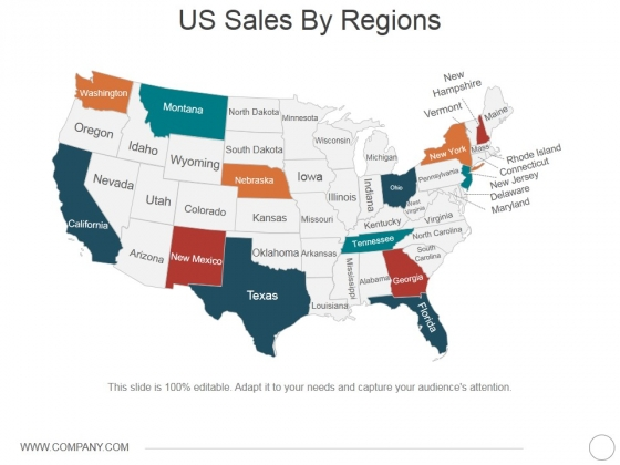 Us Sales By Regions Ppt PowerPoint Presentation Summary Slide Portrait