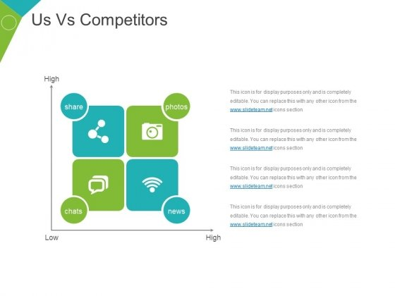 Us Vs Competitors Template 1 Ppt PowerPoint Presentation Show Infographics