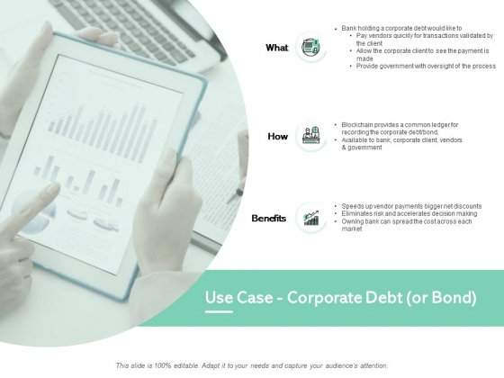 Use Case Corporate Debt Or Bond Financial Ppt PowerPoint Presentation File Graphics Download