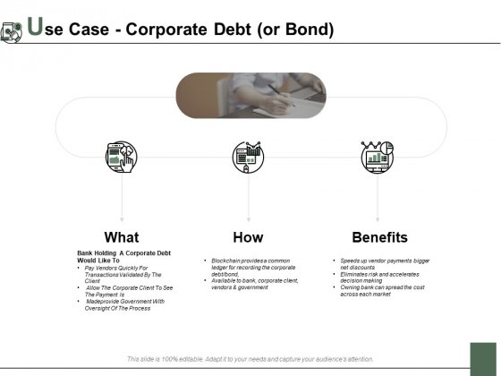 Use Case Corporate Debt Or Bond Ppt PowerPoint Presentation Infographic Template Clipart