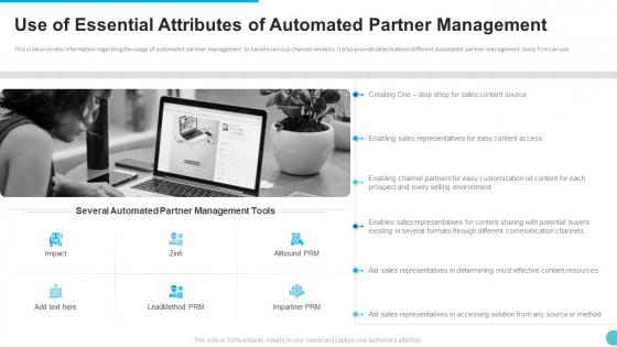 Use Of Essential Attributes Of Automated Partner Management Guidelines PDF