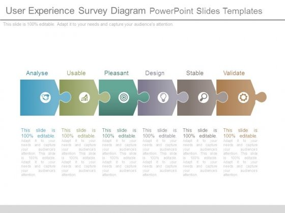 User Experience Survey Diagram Powerpoint Slides Templates