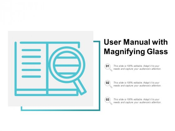 User Manual With Magnifying Glass Ppt Powerpoint Presentation Diagram Ppt