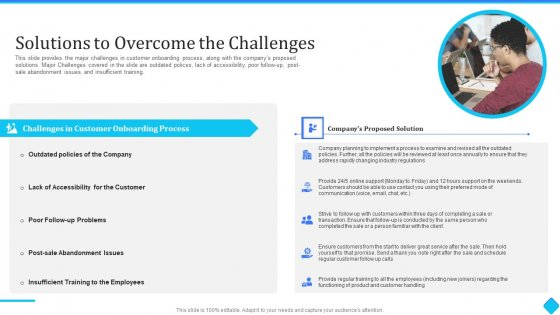 User Onboarding Process Development Solutions To Overcome The Challenges Demonstration PDF