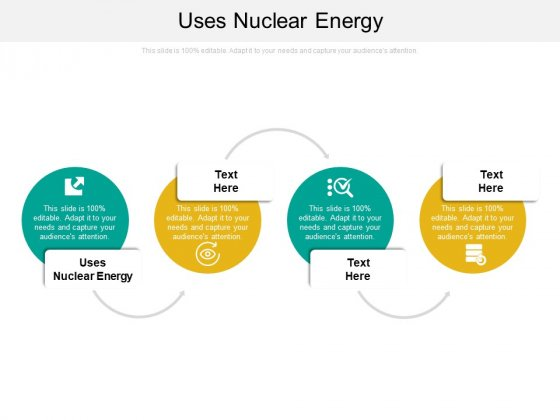 Uses Nuclear Energy Ppt PowerPoint Presentation Styles Diagrams Cpb
