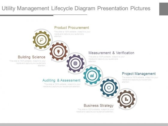 Utility Management Lifecycle Diagram Presentation Pictures