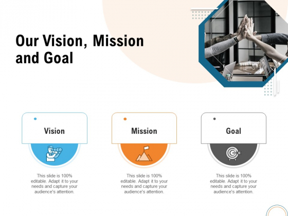 Utilizing Infrastructure Management Using Latest Methods Our Vision Mission And Goal Infographics PDF