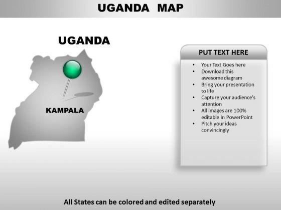 Uganda Country PowerPoint Maps