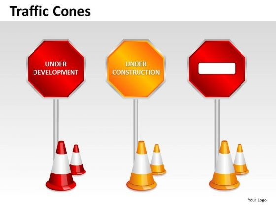Under Construction Road Signs PowerPoint Slides And Ppt Diagram Templates