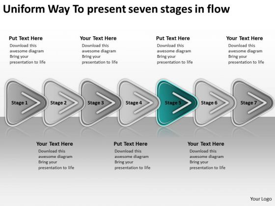 Uniform Way To Present Seven Stages In Flow Best Business Plan Templates PowerPoint Slides