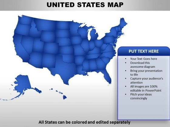 United States Country PowerPoint Maps