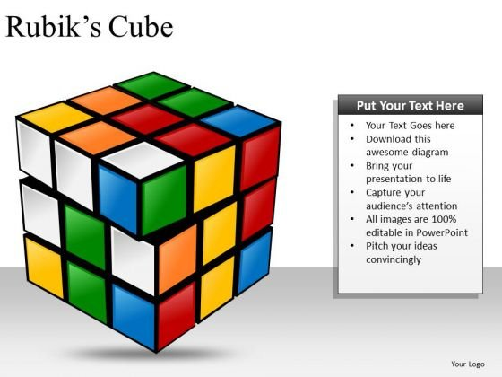 unsolved rubiks cube powerpoint slides and ppt diagram templates