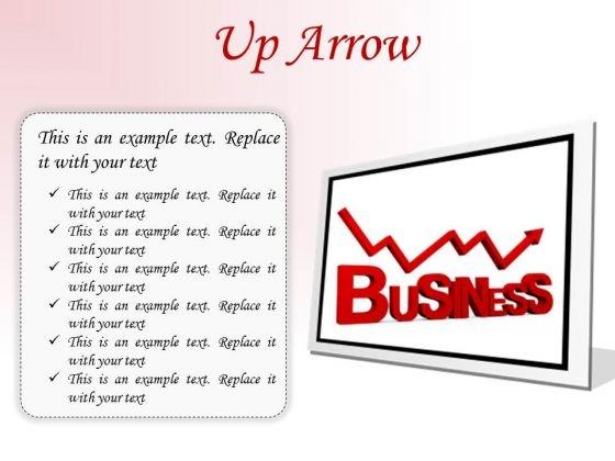 Up Arrow Business PowerPoint Presentation Slides F