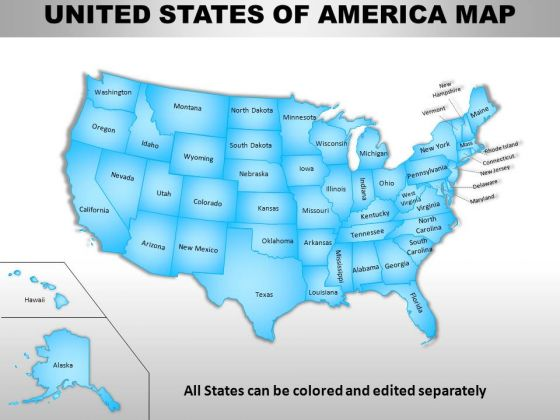 Usa Country PowerPoint Maps