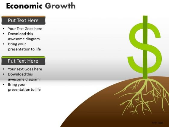 Usa Dollar Economy Growth PowerPoint Templates Economic Ppt Slides