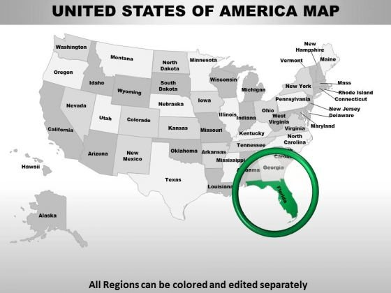Usa Florida State PowerPoint Maps