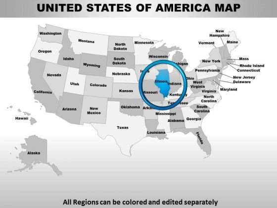 Usa Illinois State PowerPoint Maps