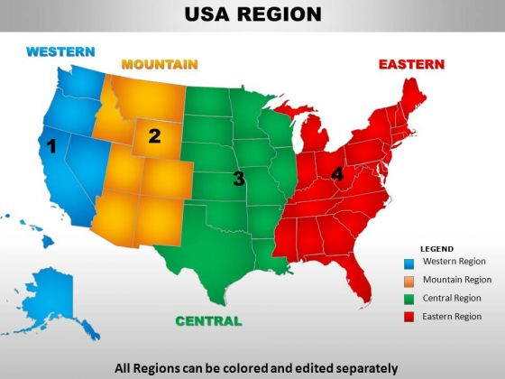 Usa Mountain Region Country PowerPoint Maps