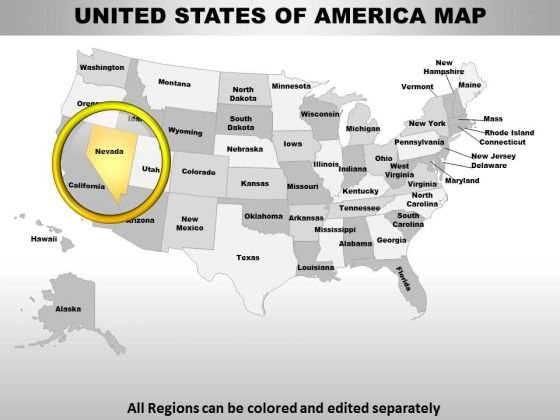 Usa Nevada State PowerPoint Maps