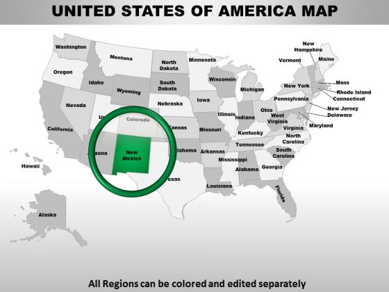 Usa New Mexico State PowerPoint Maps