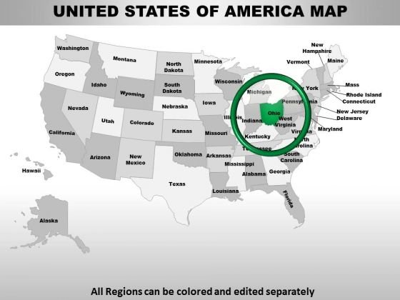 Usa Ohio State PowerPoint Maps