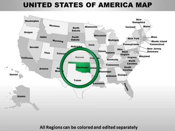 Usa Oklahoma State PowerPoint Maps