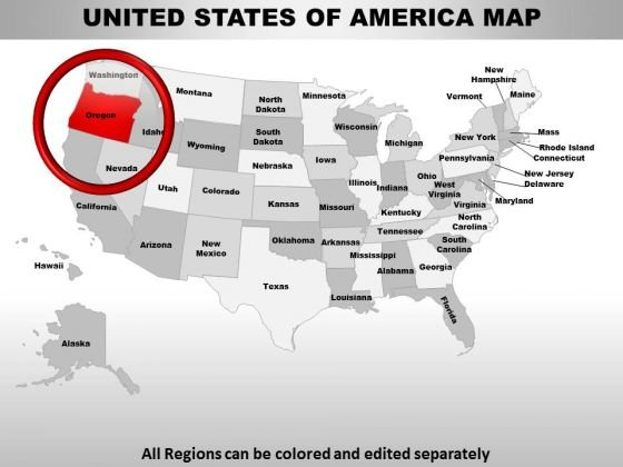 Usa Oregon State PowerPoint Maps