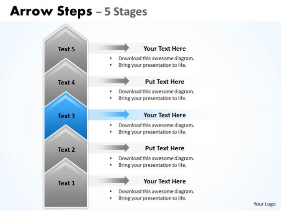 Usa Ppt Background Cocked 5 Steps Working With Slide Numbers Representation 4 Graphic