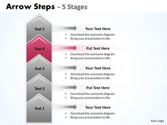 Usa Ppt Background Cocked 5 Steps Working With Slide Numbers Representation Graphic