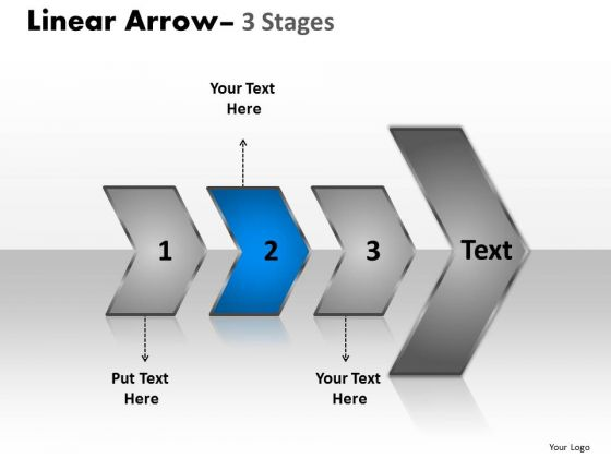 Usa Ppt Template Arrow Demonstration Of 3 Steps Project Management PowerPoint Graphic
