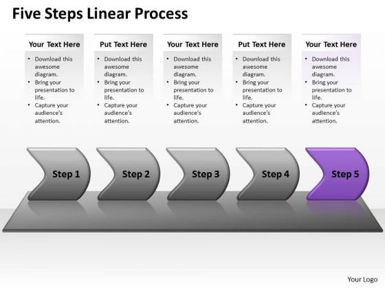Usa Ppt Template Five Scientific Method Steps Representation Video Linear Process 6 Graphic