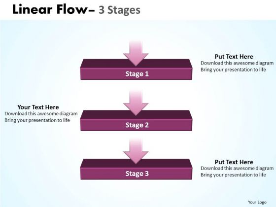 Usa Ppt Theme Linear Flow 3 State Diagram Time Management PowerPoint 1 Design