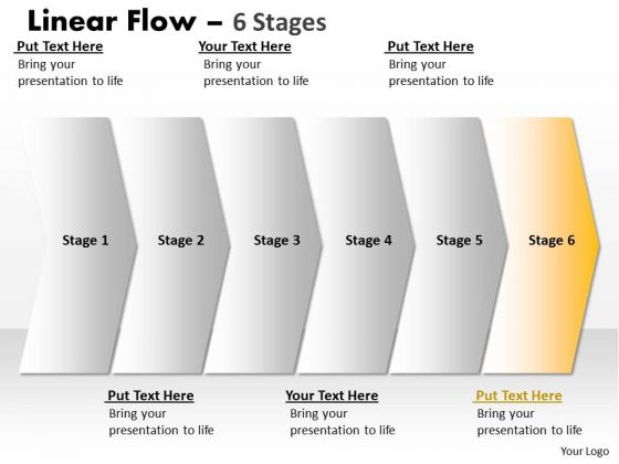 Usa Ppt Theme Straight Demonstration Of 6 Power Point Stage Time Management PowerPoint 7 Image