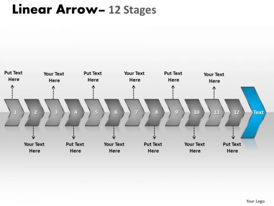 Usa Ppt Uninterrupted Representation Of 12 Arrows Business Management PowerPoint 14 Design