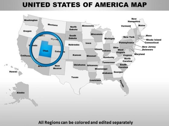 Usa Utah State PowerPoint Maps