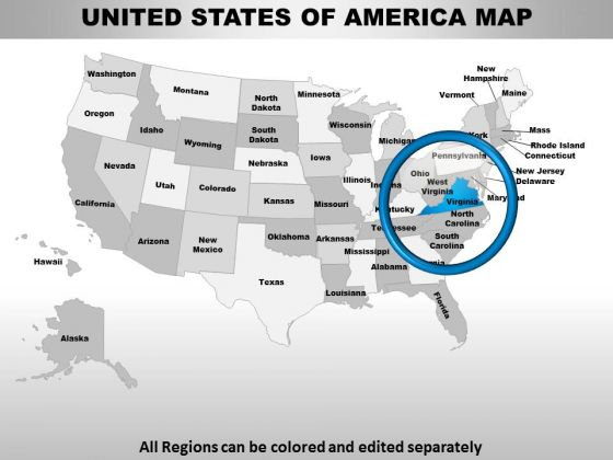 Usa Virginia State PowerPoint Maps