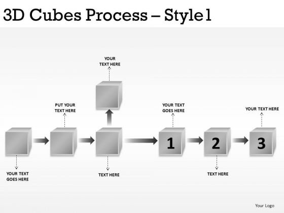 Use 3d Cubes To Show Processes PowerPoint Slides And Ppt Diagram Templates