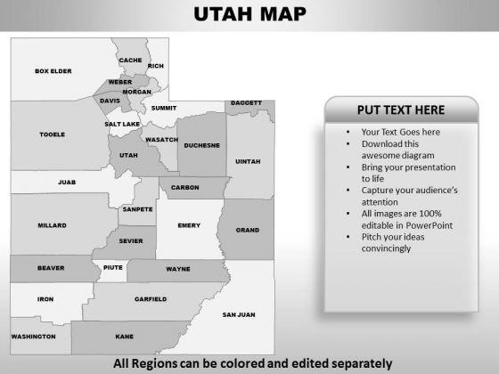 Utah PowerPoint Maps